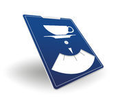 Parking disk template Royalty Free Stock Image
