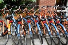 Parking do wynajęcia bicykle Obrazy Royalty Free