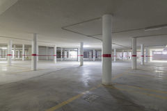Parking. Empty underground parking for vehicles Royalty Free Stock Photography