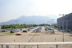 Parking en aéroport de Hong Kong Image stock