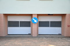 Parking entrance Stock Photos