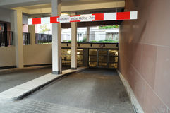 Underground parking entrance Royalty Free Stock Image