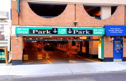 Parking Entrance Stock Image