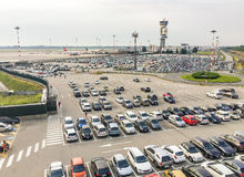 Parking exterior at the Milan-Malpensa International airport Stock Image