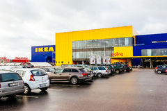 Parking and facade of IKEA store in Malmo, Sweden Royalty Free Stock Photo