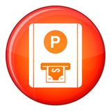 Parking fee icon, flat style Stock Photography