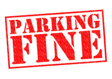 PARKING FINE. Red Rubber Stamp over a white background Royalty Free Stock Photos