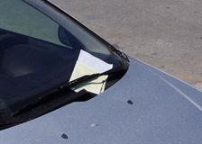 Parking fine ticket stock photos