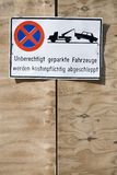 Parking Forbidden Royalty Free Stock Images