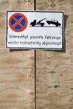 Parking forbidden. A german parking forbidden sign Royalty Free Stock Images