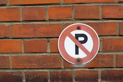 Parking forbidden Royalty Free Stock Photography