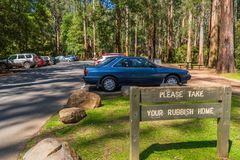 Parking in the forest Stock Photo