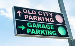parking fotografia przygotowywający znak używać Obrazy Stock