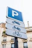parking fotografia przygotowywający znak używać Fotografia Stock