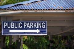 parking fotografia przygotowywający znak używać Zdjęcie Stock