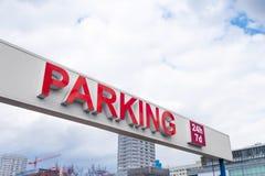 parking fotografia przygotowywający znak używać Zdjęcia Royalty Free