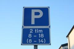 parking fotografia przygotowywający znak używać Zdjęcia Stock