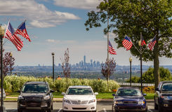 Parking in front of New York City Royalty Free Stock Photos