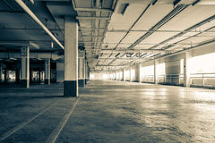 Parking garag interior, industrial building,Empty underground pa Royalty Free Stock Image