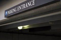 Parking Garage. Public parking garage entrance in downtown area Stock Images
