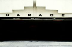 Parking Garage. Public parking garage entrance in downtown area Royalty Free Stock Photography