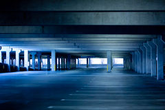 Parking Garage. Typical Empty parking garage lot royalty free stock photos