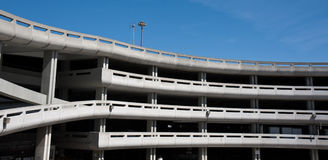 Parking Garage at the Airport. Large parking garage at the San Francisco International Airport Royalty Free Stock Image