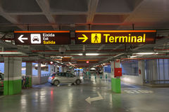 Parking garage at an airport. In Spain stock photo