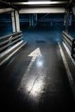 Parking garage in basement, underground interior Stock Photos