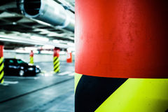 Parking garage in basement, underground interior Royalty Free Stock Photos