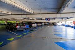 Parking garage in Belgium stock photo