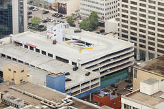 Parking Garage building in the Business center from the Aerial V Stock Image