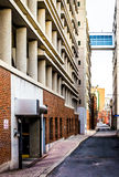 Parking garage and elevated walkway in Harrisburg, Pennsylvania. Royalty Free Stock Photography