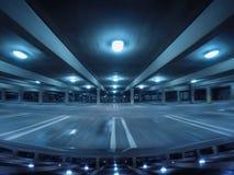 Parking Garage. Empty parking garage at night royalty free stock images