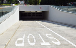 Parking garage entrance Royalty Free Stock Photo
