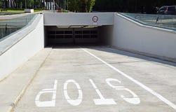 Parking garage entrance. Entrance of the parking garage Royalty Free Stock Photo