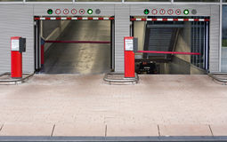 Parking garage. Entrance in the Netherlands stock photos