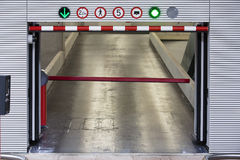 Parking garage. Entrance in the Netherlands Royalty Free Stock Photo