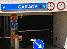 Parking garage entrance. The way down Stock Photo