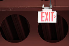 Parking Garage Exit Sign Stock Image
