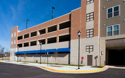 Parking garage exterior Royalty Free Stock Images