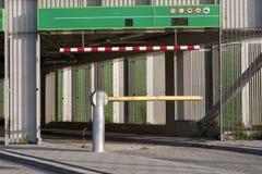 Parking garage gate Stock Images