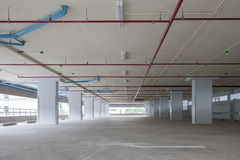 Parking garage interior, industrial building,empty space car par Royalty Free Stock Photography