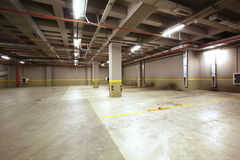 Parking garage interior Royalty Free Stock Photography
