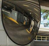 Parking Garage mirror Royalty Free Stock Image