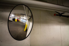 Parking Garage Mirror Stock Photography