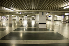 Parking garage. Modern underground parking garage in Tilburg, the Netherlands, solid concrete construction providing space for thousands of cars and other stock images