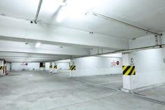 Parking garage at night Stock Photo