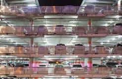 Parking garage. The parking garage at night Royalty Free Stock Image