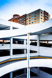Parking garage ramps and apartment building in Baltimore, Maryla Royalty Free Stock Photography